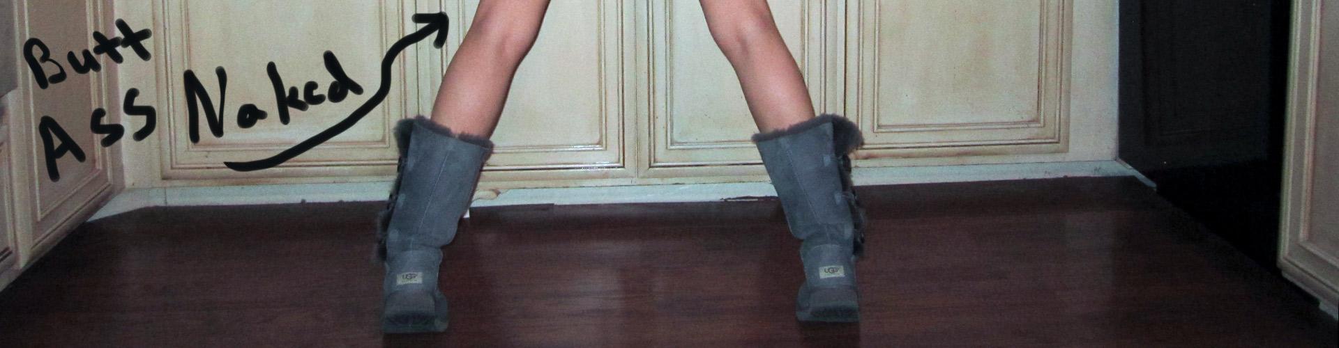 Dawn wearing Ugg boots