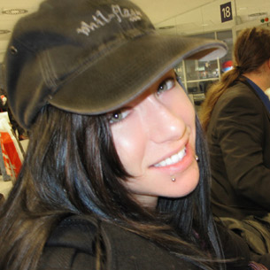 Dawn Avril wearing phil-flash hat