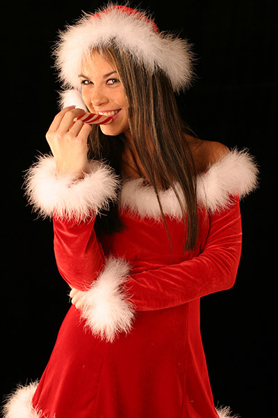 smile with candy cane