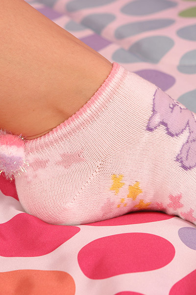 pointed toes in hot socks