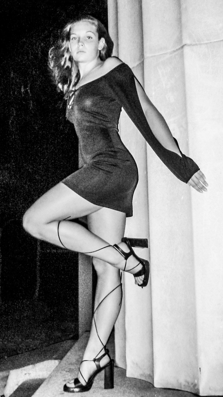 Dress & Strappy Heels