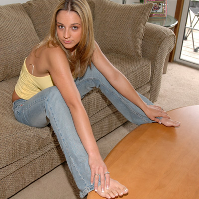 sitting in jeans