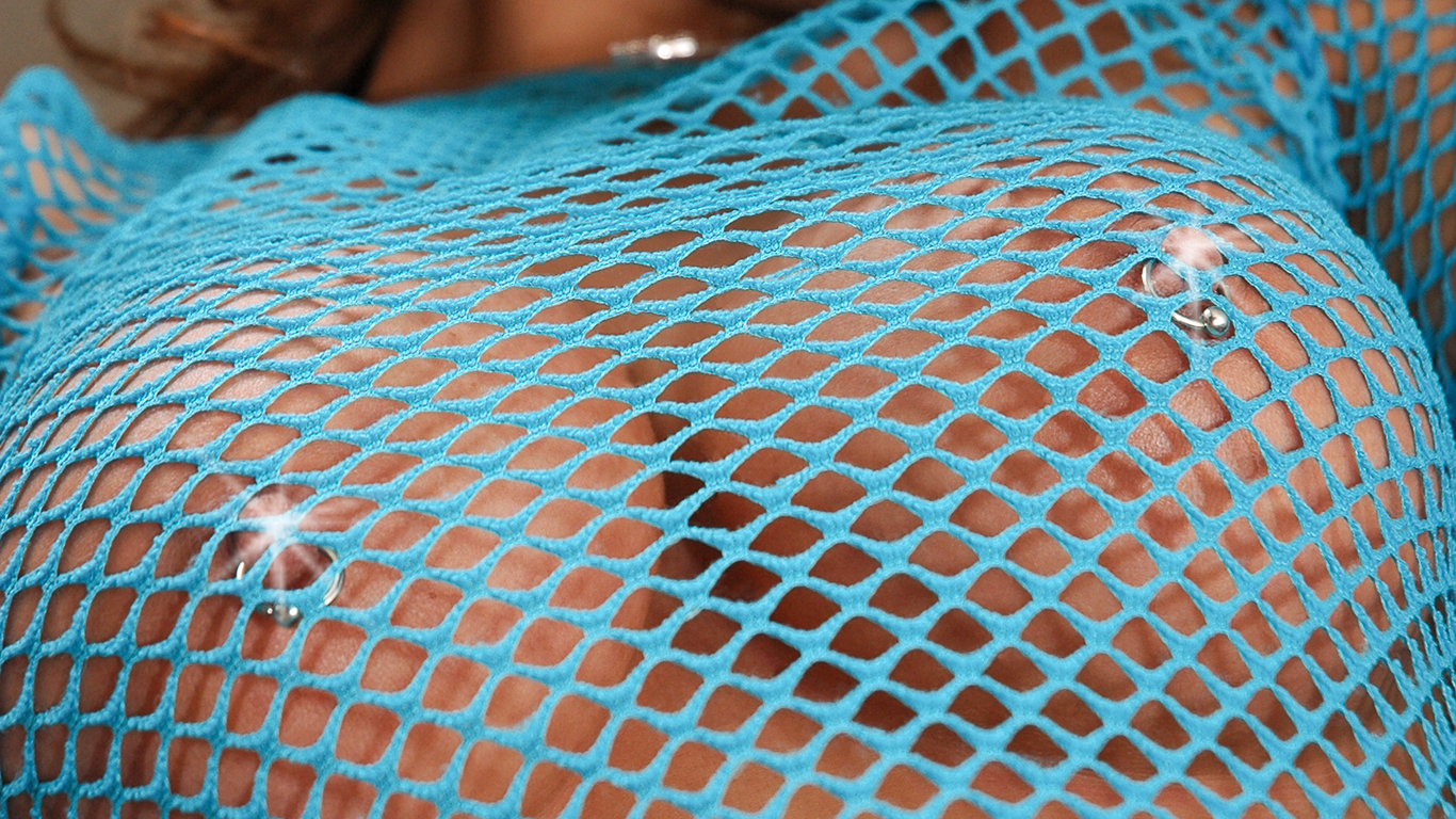mesh covered boobs