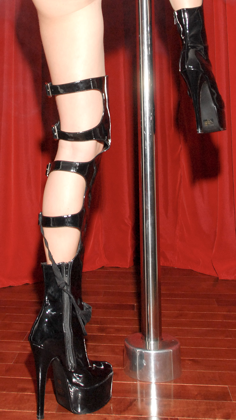 Shiny Boots Pole Dance