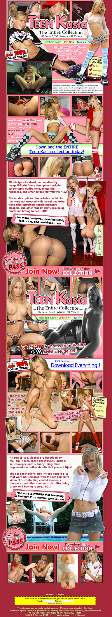 TeenKasia.com Screen Shot
